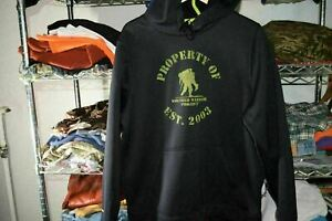 Wounded Warrior Project Under Armour Hoodie Sweatshirt Men's Large Black