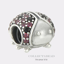 Authentic Pandora Sterling Silver Sparkling Ladybug CZ Bead 791484CFR