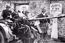 WW2 - Drocourt (Seine-et-Oise) 27.08.44 - Pièce de DCA allemande