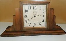 Vintage Gilbert Wood Mantle Clock Mid Century Modern