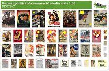 DioDump DD078-C German political & commercial media posters  ww2 - 1:35 diorama