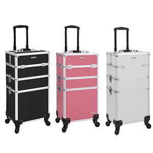 Kosmetikkoffer professioneller Make-up Koffer 3-in-1 Schminkkoffer 360° Rollen