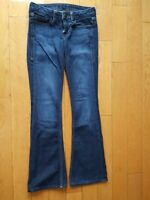 William Rast Womens Belle Flare Jeans Size 25 Medium Wash Denim Fast Shipping