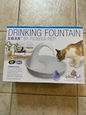 New listing Pioneer Pet Swan Drinking Fountain Plastic 80 oz 3075 for Cats that like Faucets