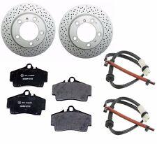 2-Anti Rust Rear Cross Drilled Rotors /Pads/2- Sensors Boxster S & Cayman S ATE