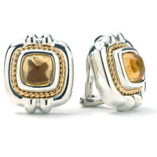 66adf7d93 Tiffany & Co. Sterling SIlver and 18k Yellow Gold Citrine Clip On Earrings