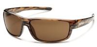 SUNCLOUD Polarized Unisex Sunglasses BROWN FRAME Brown Lenses $49.95
