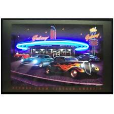 Neon and Led sign Galaxy Diner Drive in Zz top car 1950's Hot rods garage lamp