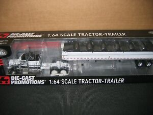 DCP 1:64 Scale White and Black Peterbilt Cab with Wilson Grain Trailer 33287