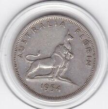 Australia  1954   Florin  Royal  Visit -  Silver  (50%)  Coin