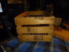 "Vintage IPPC WOOD PRODUCE CRATE Record Media Storage Rack W/ Patina 18""X12 3/4"""