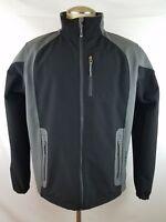 Black Diamond Mens Black Grey Soft Shell Full Zip Jacket Coat Size Large