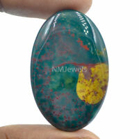 Cts. 52.50 Natural Designer Bloodstone Cabochon Oval Cab  Loose Gemstone