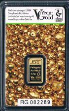 VALCAMBI GREEN GOLD 1 Auropelli Goldbarren 2,5 G 999,9 Gold LBMA Zertifiziert .