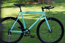 NEW GOKU Steel Frame Single speed bike TRACK bike fixed gear Bianchi Green 46cm