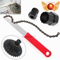 MTB Bike Bicycle Sprocket Lock Remover Tool Cassette Freewheel Chain Whip Kit