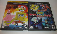 SpongeBob SquarePants Movie & Lights Camera Pants Nintendo GameCube CIB Complete