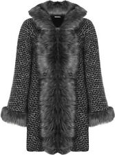 Faux Fur Plus Size Wool Blend Coats & Jackets for Women