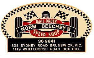 Decals - Norm Beechey Speed Shop by RatRodRalphy