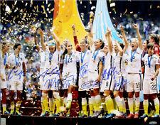 2015 World Cup Champions Team Signed 16x20 photo (9-sigs)- Carli Lloyd - Tristar