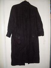 POLO RALPH LAUREN BLACK LINEN SHIRT DRESS SIZE 12 14 M 38IN BUST