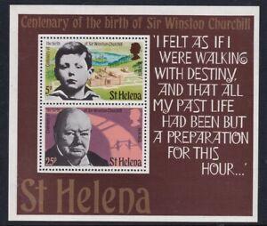 St HELENA 30 NOVEMBER 1974 WINSTON CHURCHILL CENT MINIATURE SHEET MNH