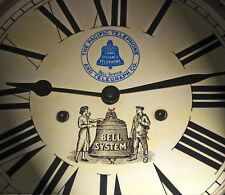 Pacific Bell Telephone and Telegraph Co Wall Clock. Vintage Bell System's 1930's