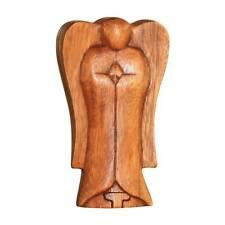 "NOVICA Wooden Angel Puzzle Box, Trinket Box Jewelry Box, Hand Carved - 5 1/2"""