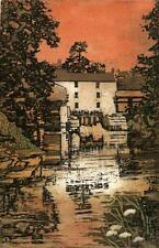 MARGARET E. Z. LEVINSON Signed Aquatint Etching WATERMILL - ABSTRACT