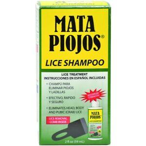 MATA PIOJOS Shampoo 2 oz Lice Shampoo Lice Treatment MADE IN USA