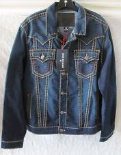 True Religion Super T Denim Jacket -Murky Tide-Dark Wash Size 2XL- NWT $349