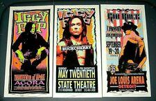 Mark Arminski 3 Signed Mini Poster Lot Kid Rock Iggy Pop
