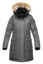 Nobis MERIDETH Jacket Coat Women - XS X-Small - Steel Grey Crosshatch New