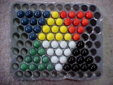 """SET OF 60 """"MARBLE KING"""" CHINESE CHECKERS 9/16"""" GAME MARBLES NM-M $8.99 PPD"""