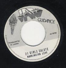 """Barrington Levy – 21 Girls Salute MINT 7"""" JAH GUIDANCE ROOTS DANCEHALL"""