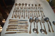 New listing 48 Oneida Stainless 18/8 Golden Royal Chippendale Flatware Service for 8