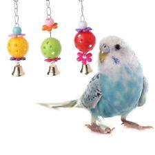 Pet Parrot Bird Bites Climb Chew Toys Swing Bell Cage Hanging Cockatiel Parakeet