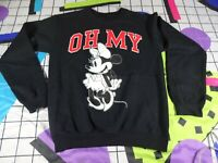 vtg 90s 00s black Small oh my Walt disney store sweater jumper sweatshirt