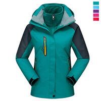 3-in-1 Women Outdoor Mountain Ski Sport Jacket Thermal Hiking Climbing Warm Coat