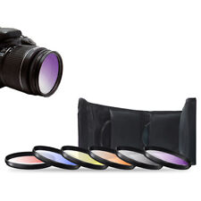 52mm 6 Piece Gradual Color Filter Kit Orange Yellow Blue Purple Red Grey