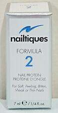 Nailtiques Formula 2 Nail Protein for Soft Peeling Weak Thin 7 ml/1.4 fl oz ~NEW