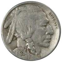 1928 S 5c Indian Head Buffalo Nickel US Coin Average Circulated