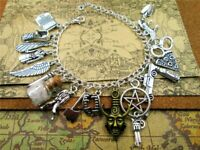 Supernatural Inspired Deluxe Bracelet Fandom Charms Silver Women Jewelry NEW