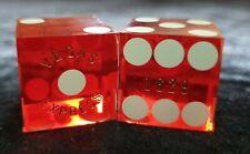 Vegas Express (red) Casino craps dice. Matching numbers