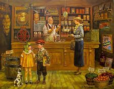 """LEE DUBIN """"1932 GENERAL STORE"""" Hand Signed Limited Edition Lithograph Art"""