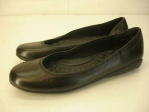 Walking Cradles Women's 7 B M Dee Ballet Flat Shoes Black Leather Slip-On Loafer