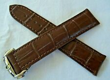 BROWN LEATHER STRAP & DEPLOYMENT CLASP 20mm for OMEGA DIVER 300 and DE-VILLE