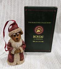 "Boyds Bears ""Ol' Saint Nick Seasons Greetings"" #4016667 Christmas Ornament Santa"