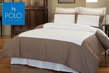 POLO Queen Bed Quilt Cover Set - Paddington Brown