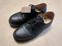 Dr Martens Industrial AirWair Black Leather Non Steel Ward Work Shoes Size 7 UK